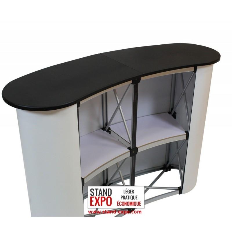 Comptoir parapluie ciruclaire customisable stand for Stand comptoir