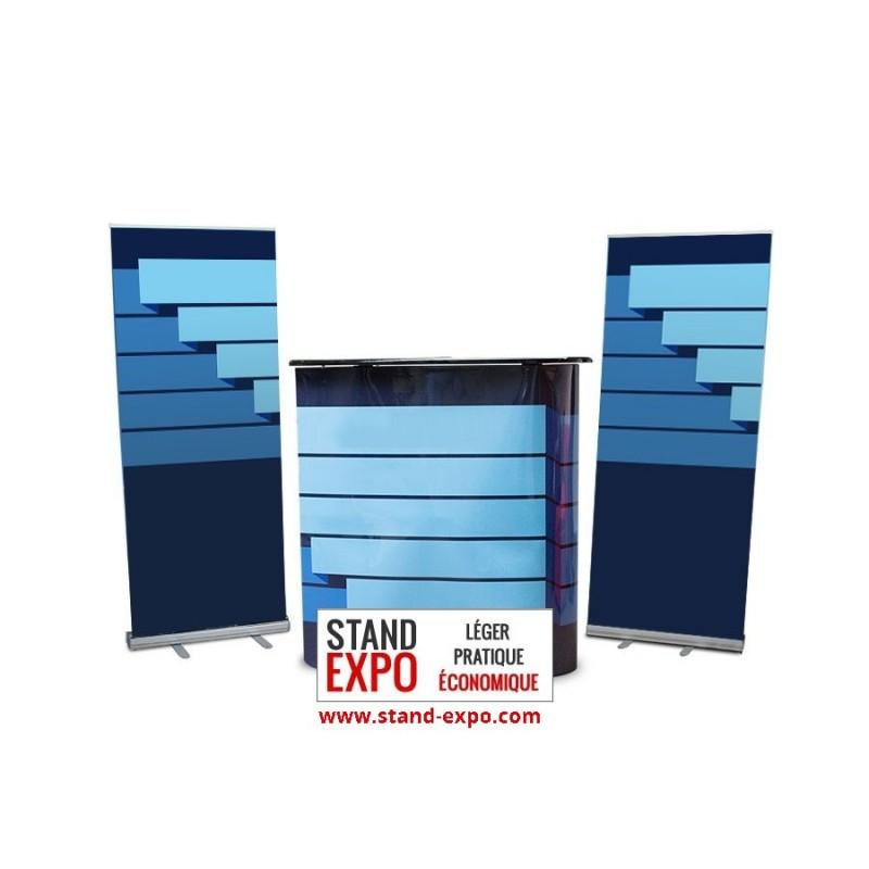Stand d 39 exposition pour tpe pme comptoir kak monos for Stand comptoir