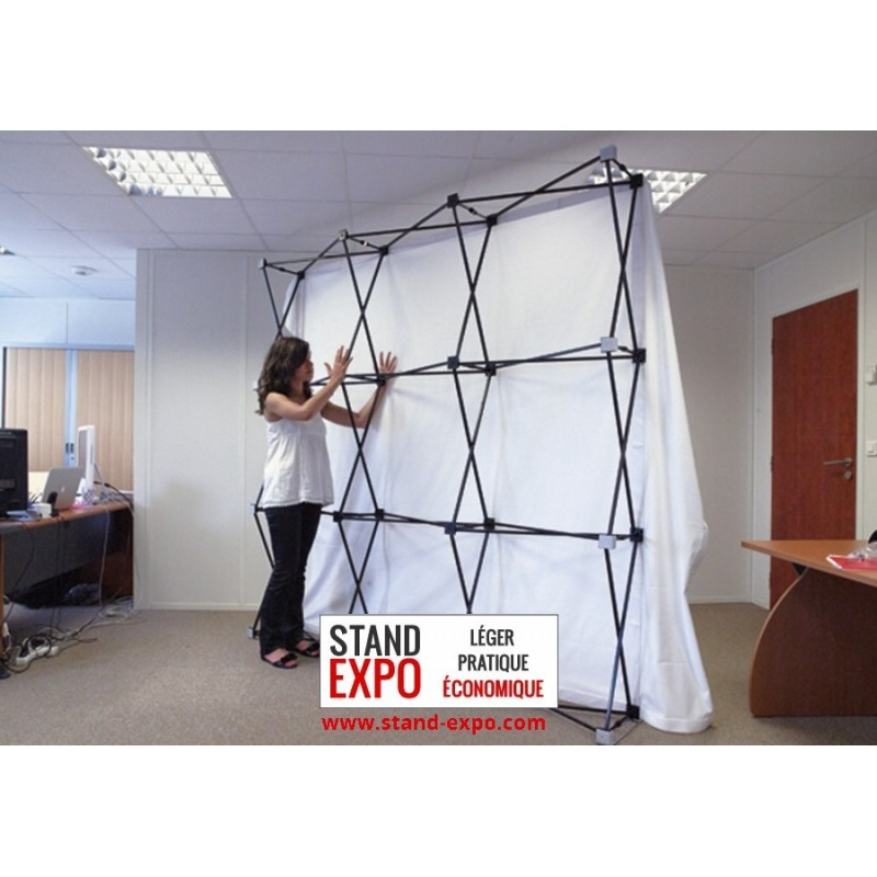 Straight shaped discount pop up wall stand expo for Stand parapluie