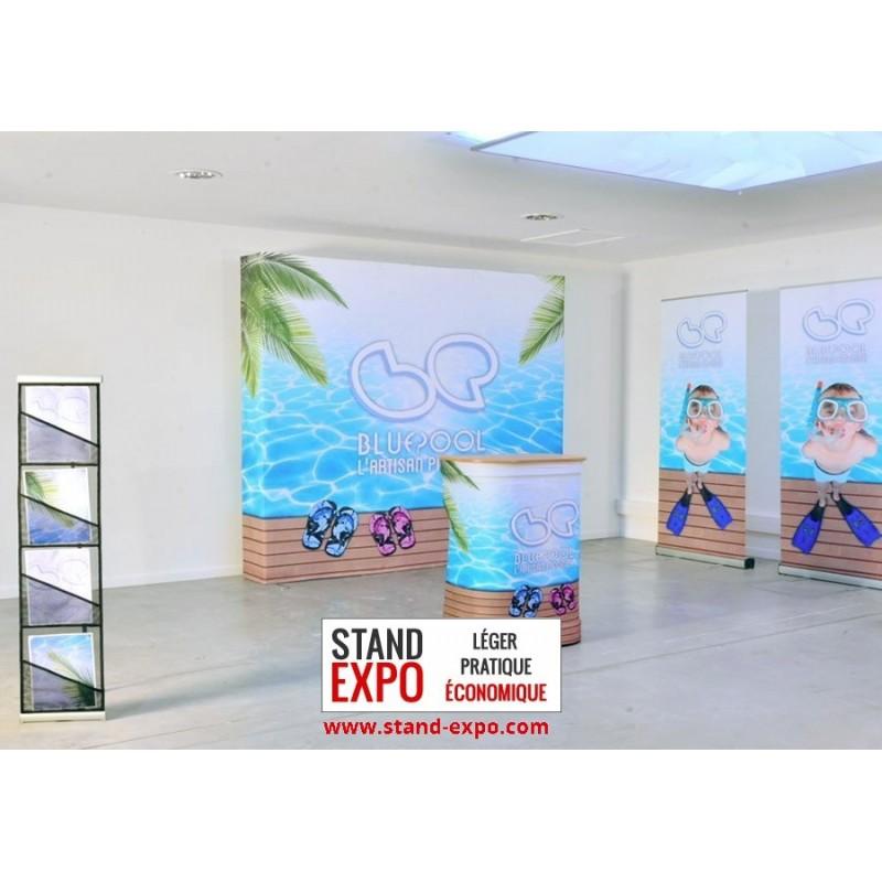 Stand parapluie 12m 18m pour salon exposition for Comptoir stand salon