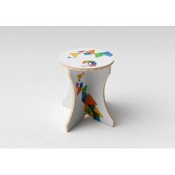 Recycled cardboard stool