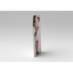 Customizable cardboard display totem