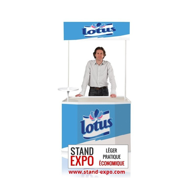 Comptoir de stand large pour salon exposition stand expo for Stand comptoir