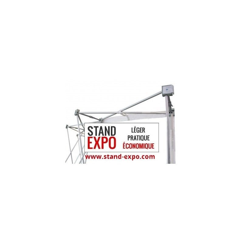 Stand parapluie courb 3x3 ou 4x3 d s 449 ht stand expo for Stand parapluie 3x3