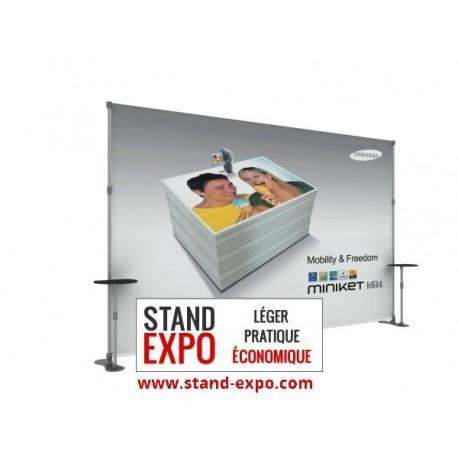 Stand de exposicion modular con mesas for Stand kakemono