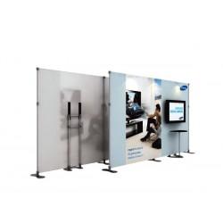 Stand personalizado con mesa y soporte de LCD
