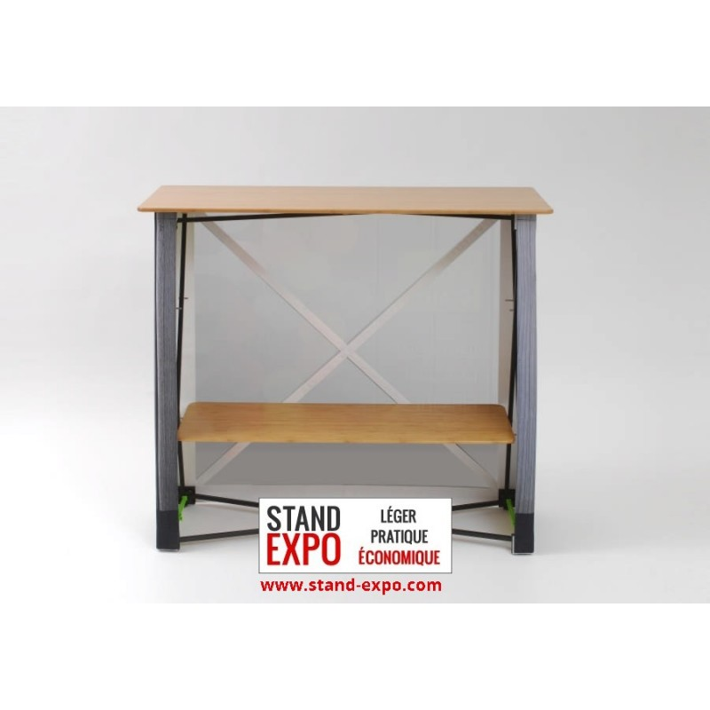 Comptoir tissu rectangulaire pliable stand expo for Moquette stand expo