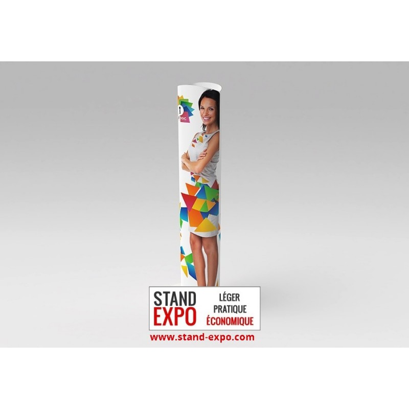 Economical cardboard circular totem stand expo for Totem stand