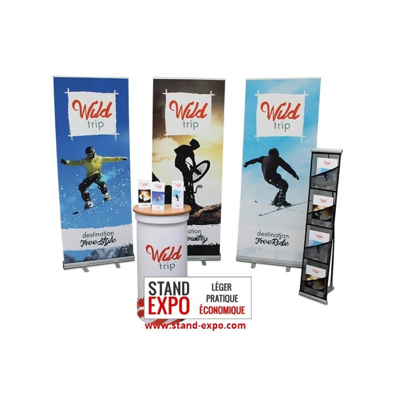counter roll ups document holder kit stand expo On comptoir stand
