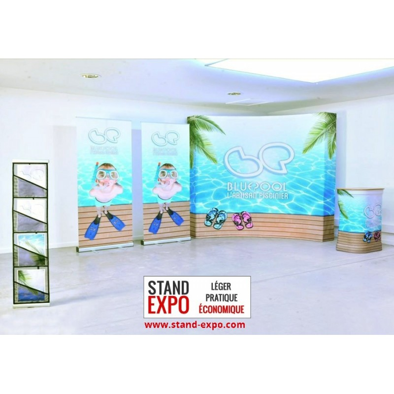 Counter, Wall, Document-holder & Roll-ups Kit : Stand-Expo