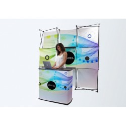 Stand: mostrador y pared multicara