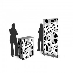 Stand : comptoir et kakémono