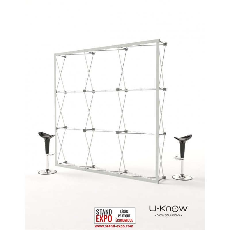 Stand parapluie droit avec toile velcro stand expo for Montage stand parapluie